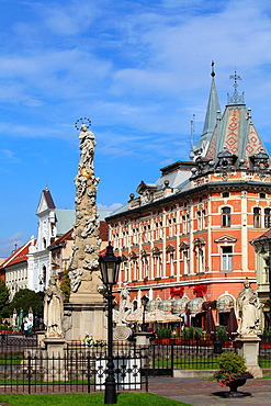 Slovakia, Kosice, Main Square, Plague Column,