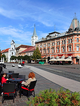 Slovakia, Kosice, Main Square, street scene,