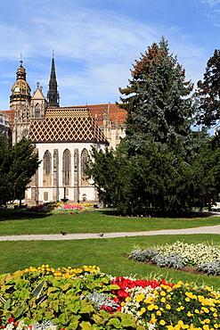 Slovakia, Kosice, Main Square, St Michaels Chapel, park,