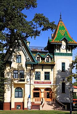 Serbia, Vojvodina, Palic, Villa Lujza, historic architecture,