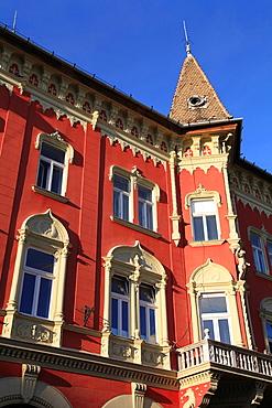 Serbia, Vojvodina, Subotica, art nouveau architecture, detail,