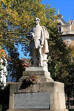 Hungary, Szeged, Szechenyi Square, Count Istvan Szechenyi statue,