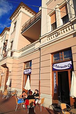 Hungary, Szeged, Karasz Street, pastry shop, people,