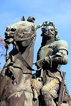Hungary, Szeged, Ferenc Rakoczi II statue,