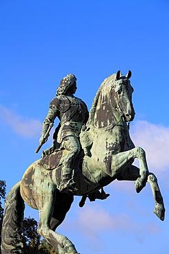 Hungary, Budapest, prince Ferenc Rakoczi II statue,