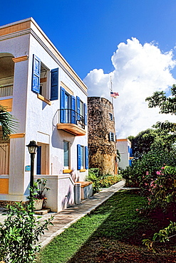 St Thomas US Virgin Islands in capital of Charlotte Amalie in the hills at the famous Bluebeards Castle Resort