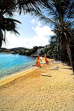 Beach and sailboats at Falmouth Beach in Antigua