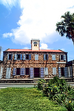 Old Public Library building in small remote island of Nevis Caribbean