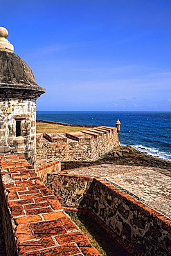 Castle of San Cristobal and historical fort in Old San Juan Puerto Rico USA