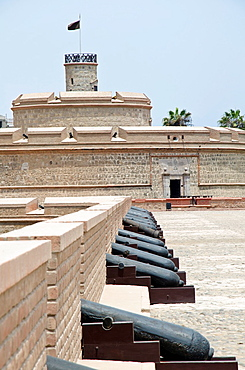 Real Felipe fort in Lima city, Peru King Tower