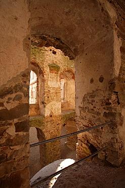 The ruins of Krzyztopor palazzo in fortezza palace in Ujazd in the Swietokrzyski region Poland