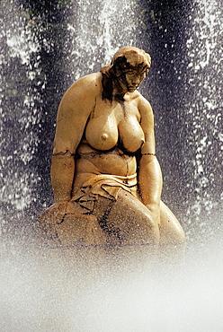 Statue of a woman in the Garcia Sanabria Park, Santa-Cruz, Tenerife, Canary Islands, Atlantic Ocean