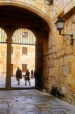 Main entrance to Escuelas Menores, University,Salamanca,Spain