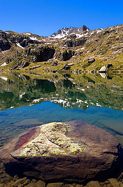 Obago lake,Colomers cirque,Aran Valley, Aiguestortes and Estany de Sant Maurici National Park,Pyrenees, Lleida province, Catalonia, Spain