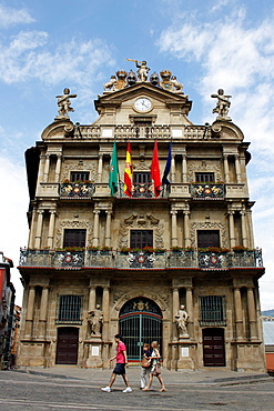 Town Hall square, Pamplona, Navarra Navarre, Spain