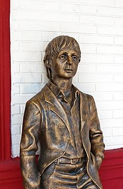 Bayamo Cuba second oldest Cuban city The Beatles Museum with bronze statue of Paul McCartney of the Beatles
