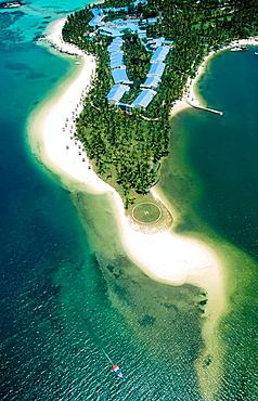 Mauritius Island, East coast, Le Saint Geran Hotel and Lagoon.