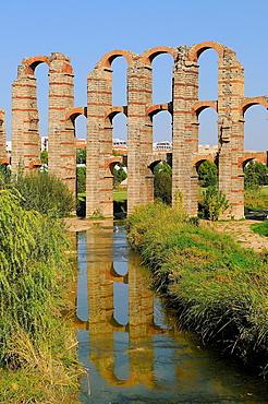 Los Milagros Roman Aqueduct Merida Badajoz province Extremadura Spain