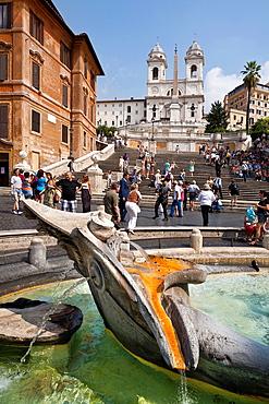 Piazza di Spagna in Rome Italy