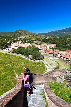 France, Corsica, Haute-Corse Department, Central Mountains Region, Citadel, visitors