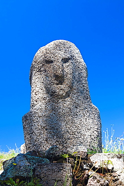 France, Corsica, Corse-du-Sud Department, Corsica South Coast Region, Filitosa, archeological site with menhir statues from 3300BC
