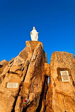 France, Corsica, Haute-Corse Department, La Balagne Region, Calvi, Notre Dame de la Serra church and shrine, dawn