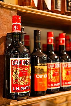 France, Corsica, Haute-Corse Department, La Balagne Region, Calvi, souvenirs, Corsican brandy
