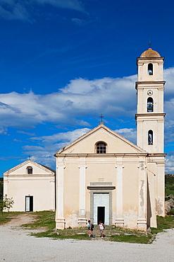 France, Corsica, Haute-Corse Department, La Balagne Region, Sant Antonino, town church