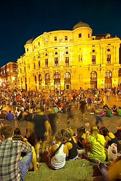 Semana Grande' Festivity Bilbao Bilbo Vizcaya Bizkaia Pais Vasco Euskadi Basque Country Spain.
