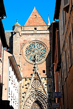 Rodez cathedral, cathedrale Notre-Dame de Rodez, Roman Catholic cathedral, Rodez, Aveyron, Midi-Pyrenees, Francee