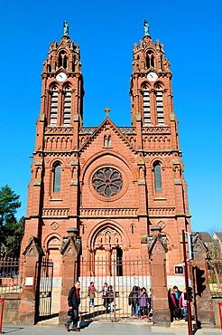 The Parish church, Espalion, Aveyron, Midi-Pyrenees region, southern France