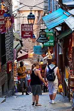 France, Normandy Region, Manche Department, Mont St-Michel, Grand Rue street, NR