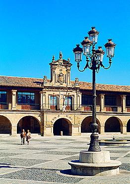 Espana Square. Santo Domingo de la Calzada, La Rioja, Spain.