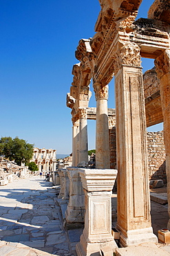 The Temple of Hadrian at Curetes Street Ephesus Archaeological Sitee, Izmir province, Turkey