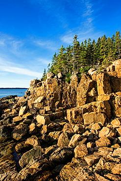 Coastal seascape, Acadia National Park, Maine, USA