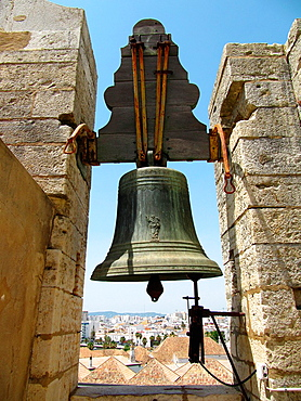 Bell Tower at the Se Cathedral, Sedes Episcopalis, Faro, Algarve, Portugal