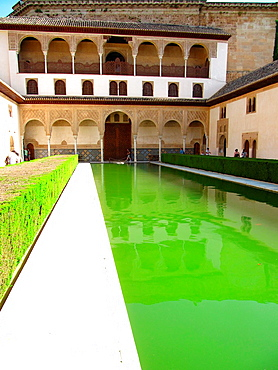 Courtyard of the Myrtles, La Alhambra, Granada, Andalucia, Spain