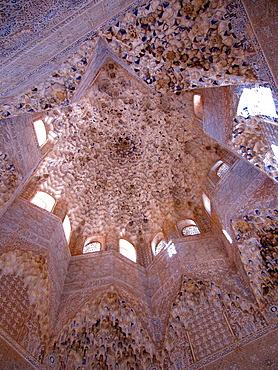 Dome of the Hall of the Abencerrajes, La Alhambra, Granada, Andalucia, Spain