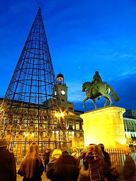 Puerta del Sol, Madrid, Spain.