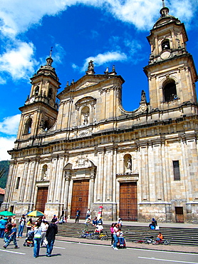 Cathedral, Bolivar Square, Plaza de Bolivar, Bogota, Colombia, South America.