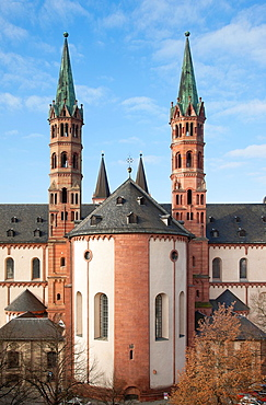 Kilian Cathedral, East Choir and Towers, Wurzburg, Bavaria, Germany