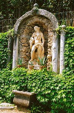 Sculpture in Villa Piovene (by Andrea Palladio), Lugo di Vicenza, Veneto, Italy