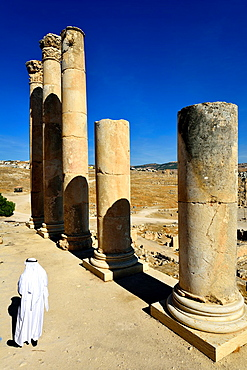 Jerash, Jordan The upper temple of Zeus.
