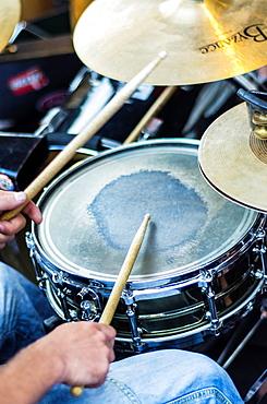 Music show at Virgen Banca square Vitoria city, European Green Capital, Basque country, Spain