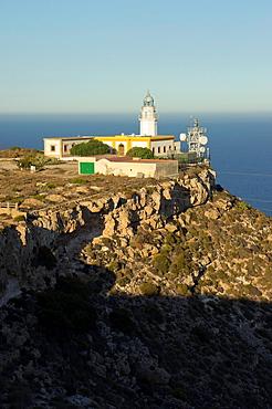 Mesa Roldan Lighthouse, Cabo de Gata-Nijar Natural Park, Almeria province, Andalusia, Spain