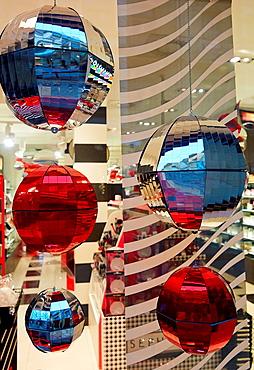 Christmas ornaments, Shopping, San Sebastian, Donostia, Gipuzkoa, Basque Country, Spain.
