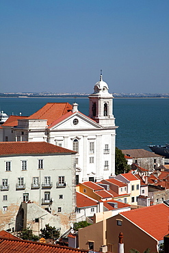 Portugal. Lisbon. View over the Alfama district.