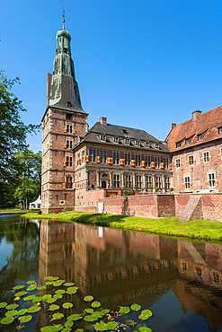 The picturesque moated castle of Raesfeld, North Rhine-Westphalia, Germany, Europe