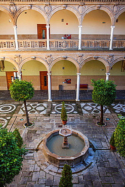 Courtyard of Palacio de Jabalquinto 16th century, Baeza  Jaen province, Andalusia, Spain