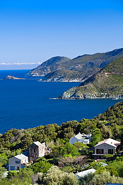France, Corsica, Haute-CorseDepartment, Le Cap Corse, Pino, coastal view